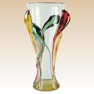 ION TAMIAN (Roumanian - 20th Century) - Extraordinary  One-Of-A-Kind Very Large Art Glass Vase, Signed