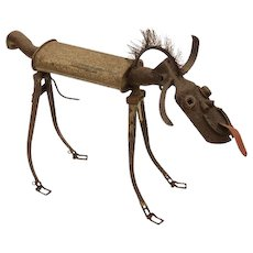"""Walter The Watch Dog"" Mixed Metal Dog Sculpture - Always Alert!"