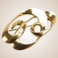 Tiffany and Co 18 Karat Gold Paloma Picasso Pin.