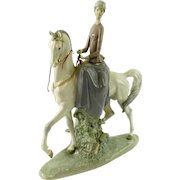 """LLADRO  Signed """"Woman On A Horse"""" Ref. 4516,"""