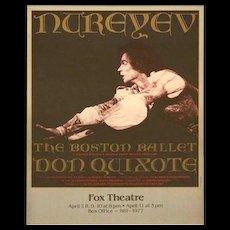 Nureyev Boston Ballet  - Fox Theatre Framed Poster.