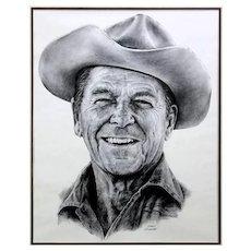 "GARY GIUFFRE (American 20th Century) - ""Reagan Country""  - Framed Print   circa 1983."