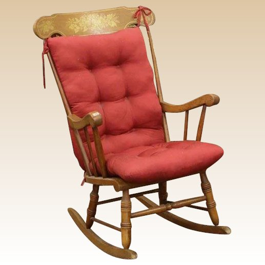 Antique American Maple Rocking Chair : Barkus Farm Antiques, Collectibles And Fine Art