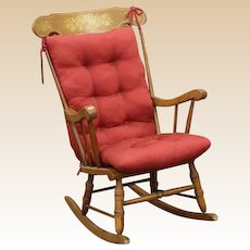 Antique American Maple Rocking Chair