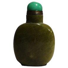 Vintage Green Stone Snuff Bottle