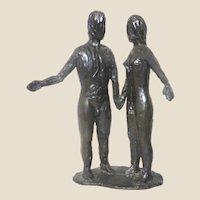 """Adam and Eve"" Bronze Sculpture"