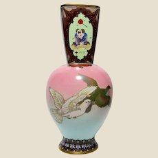 Japanese Cloisonne Meiji Period Vase