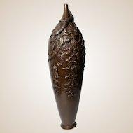 Meiji Period Signed Japanese Bronze Vase - Excellent!