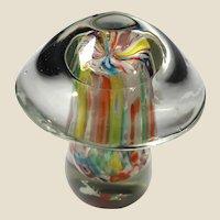 Art Glass Larger Mushroom Paperweight, Beautiful!