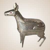 Silver (925) Trinket Box in The Shape Of A Horse (or Antelope)