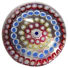 BACCARAT France  Lovely Millefiori Paperweight, Signed