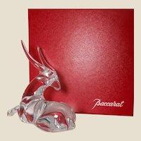 BACCARAT (France) Rare Vintage Signed Crystal Tanganyika Antelope