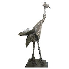 Bronze Sculpture Of A Bird,  Picasso-Like Abstract Interpretation