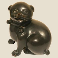 Bronze Puppy Sculpture, Adorable!