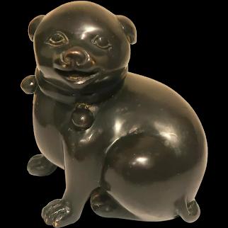 Bronze Puppy Sculpture, Adorable!