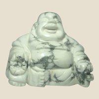Miniature Buddha, Hand-Carved Polished Carrera Marble,