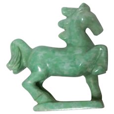 Well-Carved Miniature Horse - Aventurine Quartz