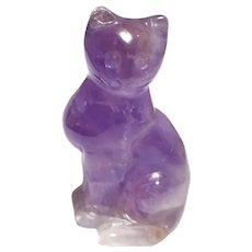 AMETHYST Cat, Well-Carved Miniature
