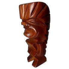 Primitive Folk Art Wood Carving - Warrior or King,