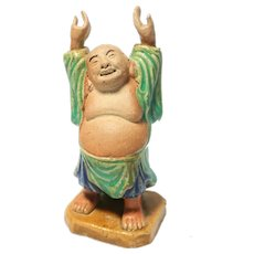 VERY RARE Chinese Mudman Hotei, The Laughing Buddha