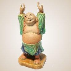 VERY RARE Chinese Mudman Hotei, The Laughing Buddha