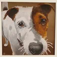 """""""Dog Love"""" - Signed Original Oil Painting - Adorable!"""