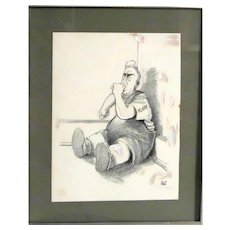 """DON WRIGHT (American, 1934-2007) -""""McCarthy"""" - Vintage Signed Political Cartoon By A Cartoonist Who Twice Won The Pulitzer Prize!"""