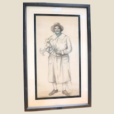 """THOMAS CURRIE BELL (Scottish/American 1873 - 1946) Original Signed Drawing  """"Lucretia (Helen)"""""""
