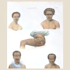 Tonga, Fiji; Tonga-Tabou Folio Lithograph by DUMONT (French 1790 - 1842) - Circa 1833
