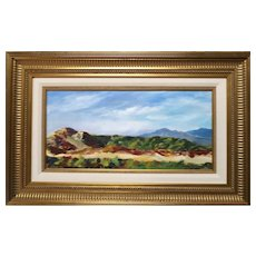 """Signed Original Oil Painting By Impressionist Artist, Dorothy Hudson - """"Hillside Dreams of Peace"""""""
