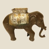 Circus Elephant Cast Iron Bank, Vintage or Older