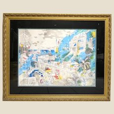 """CHARLES COBELLE (French/American 1902-1998) - Signed/Numbered """"Summertime In Provence""""  Lithograph In Color"""