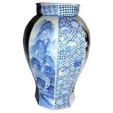 Japanese Fukagawa Vase - Taisho Period - Outstanding!