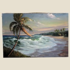 """ARTIE MCKENZIE (American b. 1957) - Original Signed Oil On Canvas, """"Restless Surf"""""""