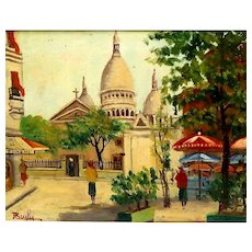 "J. BEYLY (20th Century) - Signed Original Oil On Canvas - ""Cathedral"""