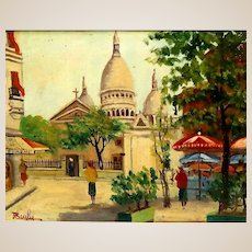 """J. BEYLY (20th Century) - Signed Original Oil On Canvas - """"Cathedral"""""""