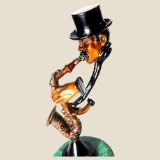 "PAUL DOUGLAS WEGNER (American b. 1950) Signed Limited Edition Bronze Sculpture - ""The Saxophone Player"""