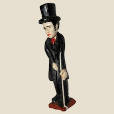 FOLK ARTIST Tom Tarrer (American 1922-2018) Original Signed and Dated Carving - President Abraham Lincoln In His Stove Pipe Hat -