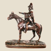 French Mid 19th Century Patinated Bronze Rider and Horse, Signed/Dated/Registered.