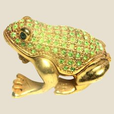 """Jeweled"" Green Frog Trinket Box or Ring Box"
