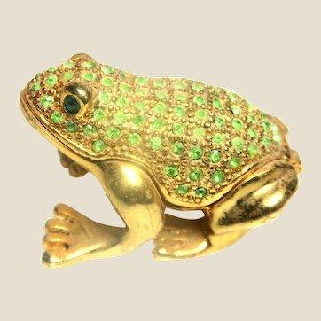 """Jeweled"" Green Frog Trinket Box or Ring Box"
