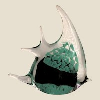 Art Glass Angelfish Paperweight
