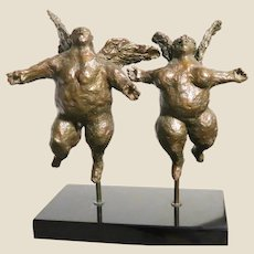 """Harvey Weiss, (American, 1922-2007), Signed Bronze """"Guardians"""""""