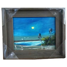 """Original Highwaymen CARNELL AMBROSE SMITH (1950-2015) - Original Signed Oil  """"God's Beautiful Evening On The St. Lucie River"""""""