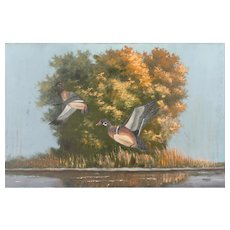 "JOHNNY DANIELS (Highwaymen - American 1952 - 2009) - Original Signed Oil On Canvas ""Marsh Residents"""