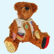 HERMANN Limited Edition Signed/Numbered Teddy Bear - 50 Year German-American Friendship 1945 - 1995.