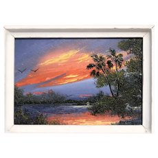 Florida Highwaymen Artist A. J. Brown - 2nd Generation and Legacy -   ORIGINAL Signed Oil