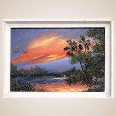 Florida Highwaymen Artist A. J. Brown - 2nd Generation and Legacy -   ORIGINAL Signed Oil