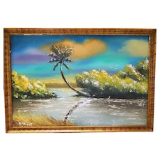 "Florida Highwaymen ""Second Generation Movement"" - Norman E. Wright - Large Original Oil ""Rio Mar"""