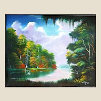 Florida Hgihwaymen Style Artist PAT ROLLINS (American 20th - 21st Century) - Original Signed Oil On Canvas